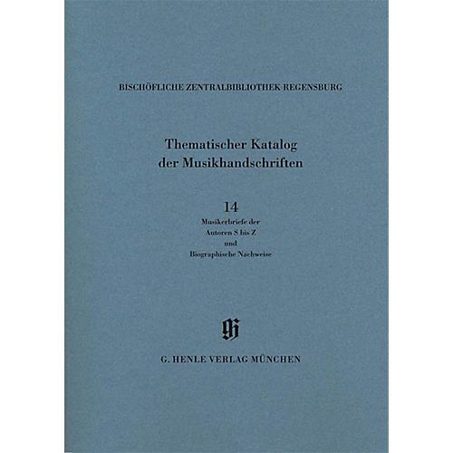 G. Henle Verlag Musikerbriefe 2 Autoren S bis Z und biographische Hinweise Henle Books Series Softcover-thumbnail