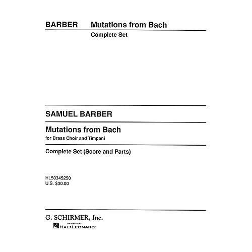 G. Schirmer Mutations from Bach (Score and Parts) Concert Band Composed by Samuel Barber-thumbnail
