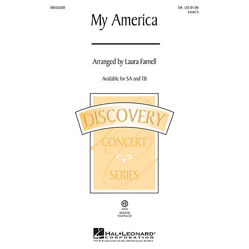 Hal Leonard My America (Choral Medley) Discovery Level 3 VoiceTrax CD Arranged by Laura Farnell