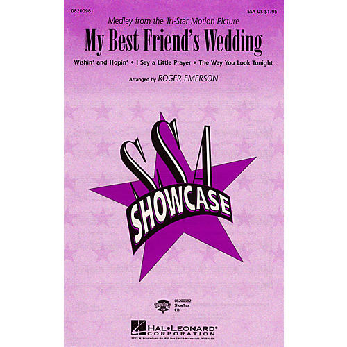 Hal Leonard My Best Friend's Wedding (SSA) SSA arranged by Roger Emerson