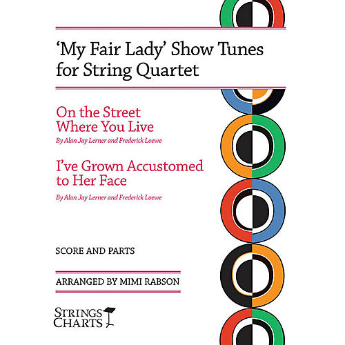 String Letter Publishing My Fair Lady Show Tunes for String Quartet String Letter Publishing Series Softcover by Mimi Rabson-thumbnail