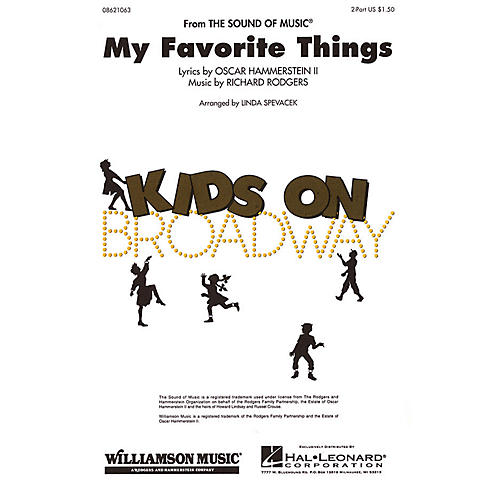 Hal Leonard My Favorite Things (2-Part and Piano) 2-Part arranged by Linda Spevacek-thumbnail