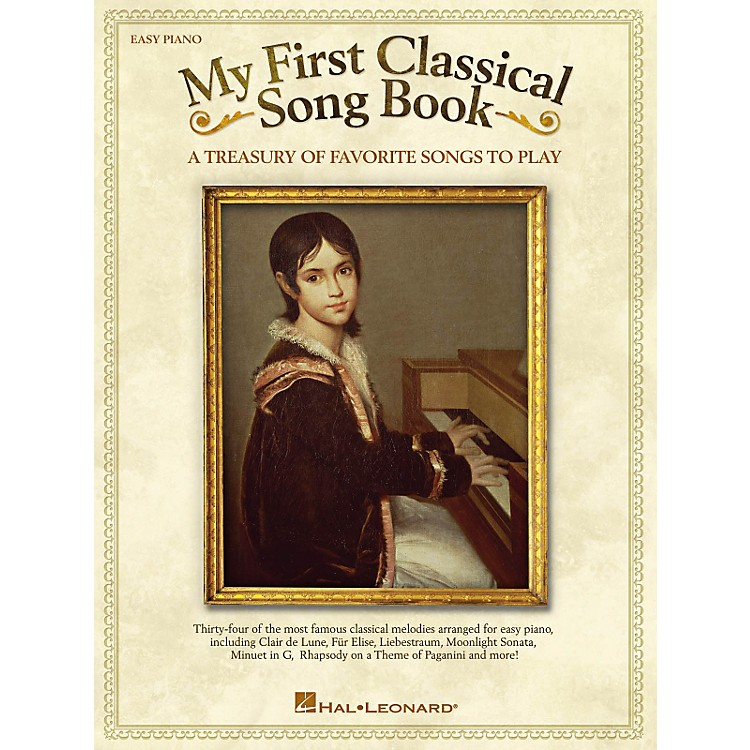 Hal Leonard My First Classical Song Book For Easy Piano