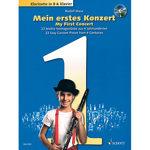 Schott My First Concert - 23 Easy Concert Pieces from 4 Centuries Woodwind Solo Series BK/CD-thumbnail