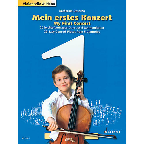 Schott My First Concert - 25 Easy Concert Pieces from 5 Centuries (Cello and Piano) String Series Softcover-thumbnail