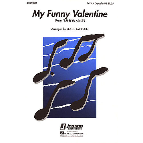 Hal Leonard My Funny Valentine (from Babes in Arms) SATB a cappella arranged by Roger Emerson-thumbnail