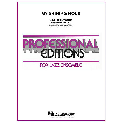 Hal Leonard My Shining Hour Jazz Band Level 5 Arranged by Mark Buselli-thumbnail