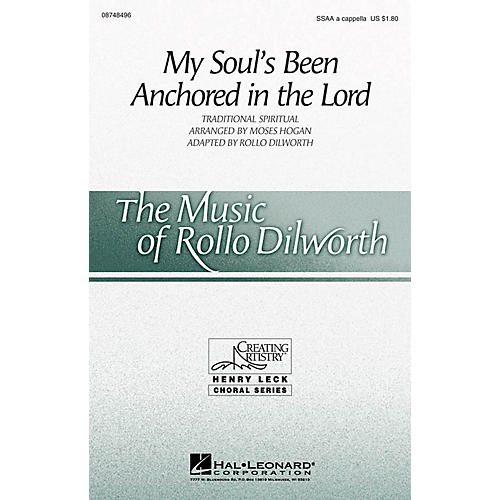 Hal Leonard My Soul's Been Anchored in the Lord SSAA A Cappella arranged by Moses Hogan/adapted by Rollo Dilworth-thumbnail