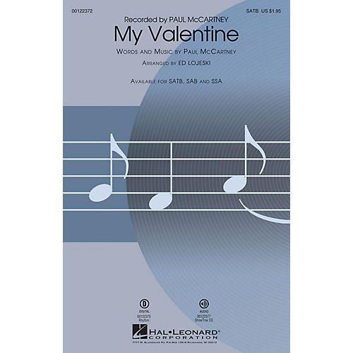 Hal Leonard My Valentine SATB arranged by Ed Lojeski