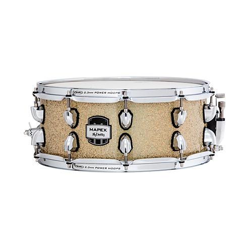 Mapex MyDentity Maple Snare Drum Chrome on Gamma Gold Multi-Sparkle 16 x 14 in.