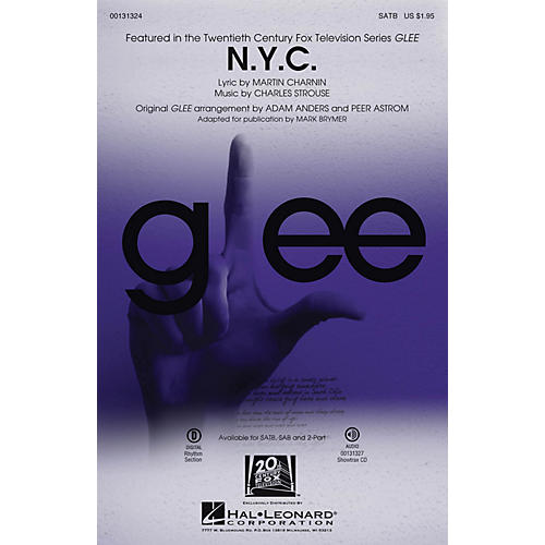 Hal Leonard N.Y.C. (from Annie) ShowTrax CD by Glee Cast (TV Series) Arranged by Mark Brymer