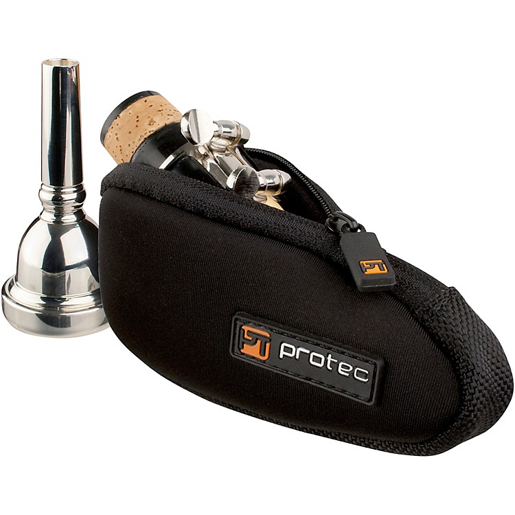 Protec N264 Neoprene Series Trombone/Alto Saxophone Mouthpiece Pouch with Zipper N264 Black