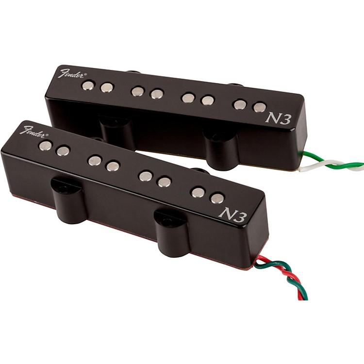 FenderN3 Noiseless Jazz Bass Pickups Set of 2Black Covers