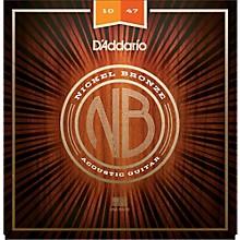 D'Addario NB1047 Nickel Bronze Extra Light Acoustic Guitar Strings