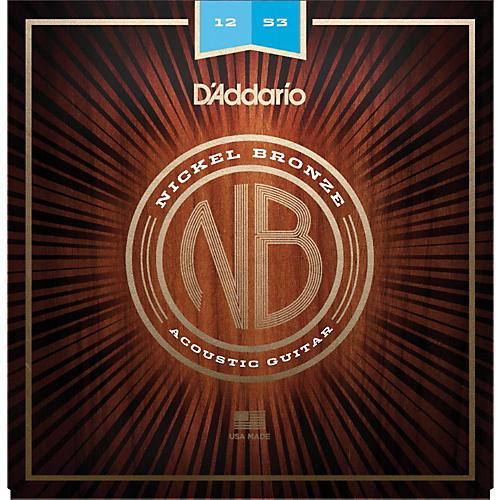 D'Addario NB1253 Nickel Bronze Light Acoustic Strings-thumbnail