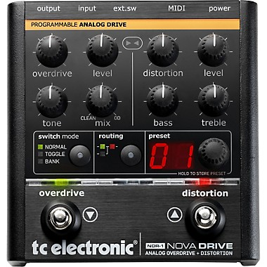 NDR-1 Nova Drive Overdrive and Distortion Guitar Effects Pedal