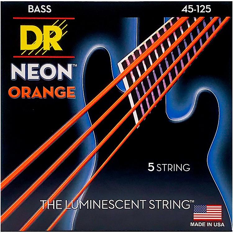 DR StringsNEON Hi-Def Orange Bass SuperStrings Medium 5-String