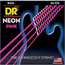 Open BoxDR Strings NEON Hi-Def Pink Bass SuperStrings Medium 4-String