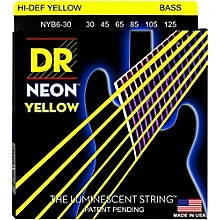 DR Strings NEON Hi-Def Yellow Bass SuperStrings Medium 6-String