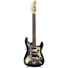 Woodrow Guitars NFL 10-In Mini Guitar Collectible Baltimore Ravens