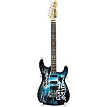 Woodrow Guitars NFL 10-In Mini Guitar Collectible Carolina Panthers