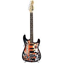 Woodrow Guitars NFL 10-In Mini Guitar Collectible Cincinnati Bengals
