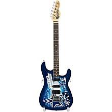 Woodrow Guitars NFL 10-In Mini Guitar Collectible Dallas Cowboys