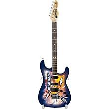 Woodrow Guitars NFL 10-In Mini Guitar Collectible Denver Broncos