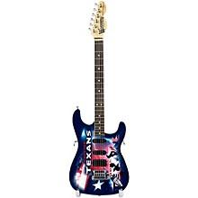 Woodrow Guitars NFL 10-In Mini Guitar Collectible Houston Texans
