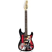 Woodrow Guitars NFL 10-In Mini Guitar Collectible Kansas City Chiefs
