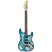Woodrow Guitars NFL 10-In Mini Guitar Collectible Miami Dolphins