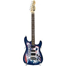 Woodrow Guitars NFL 10-In Mini Guitar Collectible New England Patriots