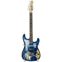 Woodrow Guitars NFL 10-In Mini Guitar Collectible San Diego Chargers