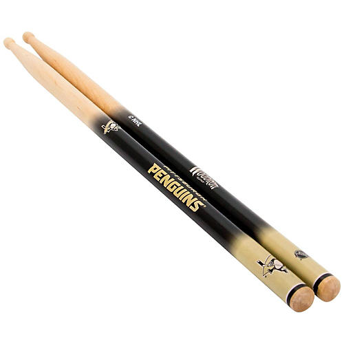 Woodrow Guitars NHL Collectible Drum Sticks Pittsburgh Penguins 5A