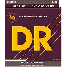 DR Strings NICKEL LO-RIDER  Nickel Plated 5-String Bass Strings Lite (40-120)