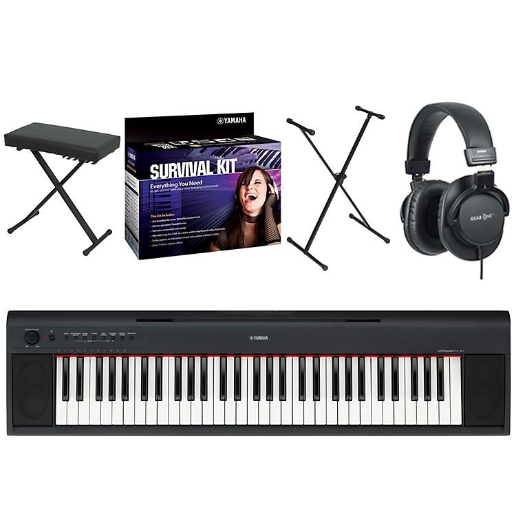 YamahaNP11 61-Key Digital Pianow/ Yamaha D2 Survival Kit, Bench, Stand, & Headphones