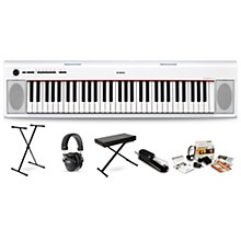 Yamaha NP12 (White) with Headphones, Bench, Stand and Sustain Pedal