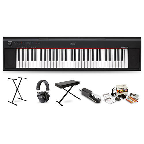 Yamaha NP12 with M80 MkII Bench, Stand & Sustain Pedal Black