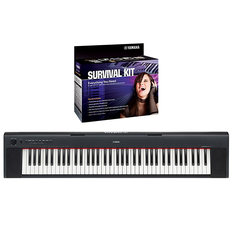 Yamaha NP31 76-Key Portable Digital Piano with Yamaha D2 Survival Kit