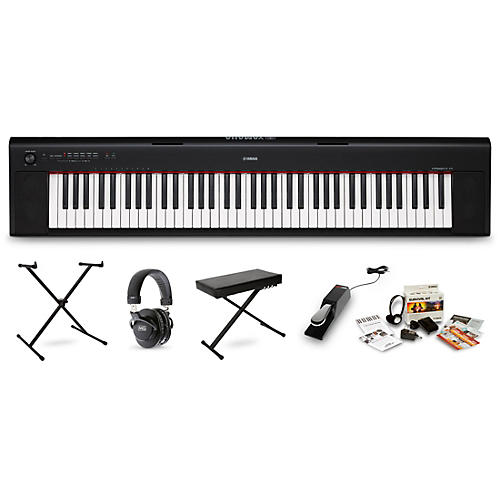 yamaha np32 portable keyboard with headphones bench stand and sustain pedal musician 39 s friend. Black Bedroom Furniture Sets. Home Design Ideas