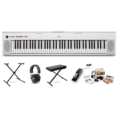 Yamaha NP32 Portable Keyboard with Headphones, Bench, Stand and Sustain Pedal-thumbnail