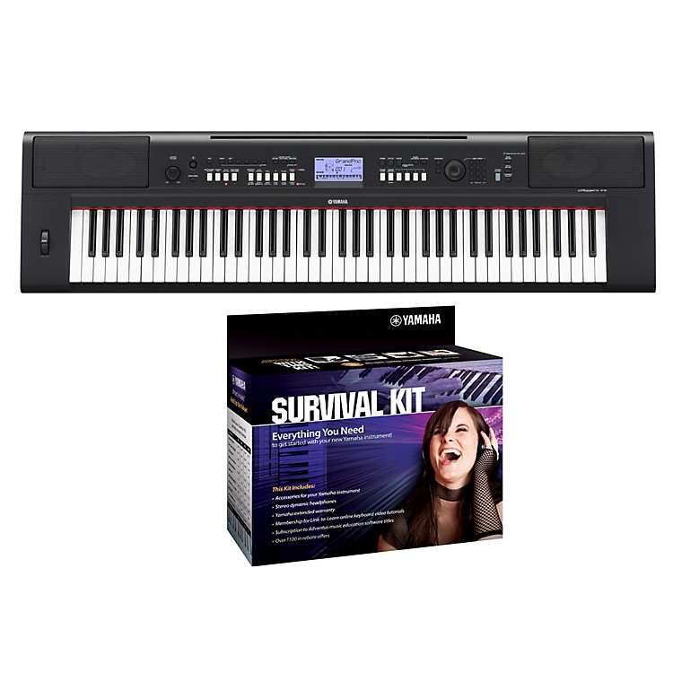 YamahaNPV60 76-Key Piaggero Portable Digital Pianowith Yamaha D2 Survival Kit
