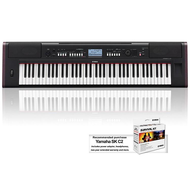 YamahaNPv80 76-Key High-Level Piaggero Ultra-Portable Digital Piano