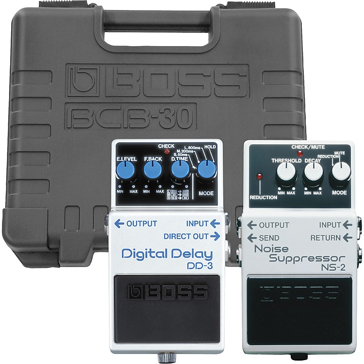 BossNS-2/DD-3 Pedals with BCB-30 Pedalboard