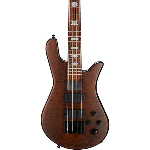 Spector NS-4H2-FM USA 4-String Bass Guitar Walnut Stain Black Hardware