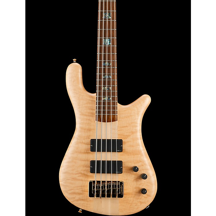 Spector NS-5XL USA 5-String Bass Natural Oil Gold Hardware