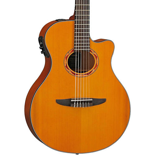 Yamaha NTX700C Classical Thin-line Acoustic-Electric Guitar with Cedar Top