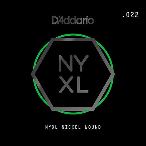 D'Addario NYNW022 NYXL Nickel Wound Electric Guitar Single String, .022-thumbnail