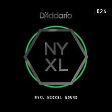 D'Addario NYNW024 NYXL Nickel Wound Electric Guitar Single String, .024