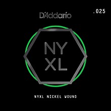 D'Addario NYNW025 NYXL Nickel Wound Electric Guitar Single String, .025